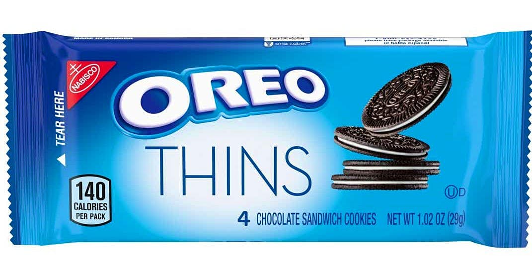 A packet of Oreo Thins