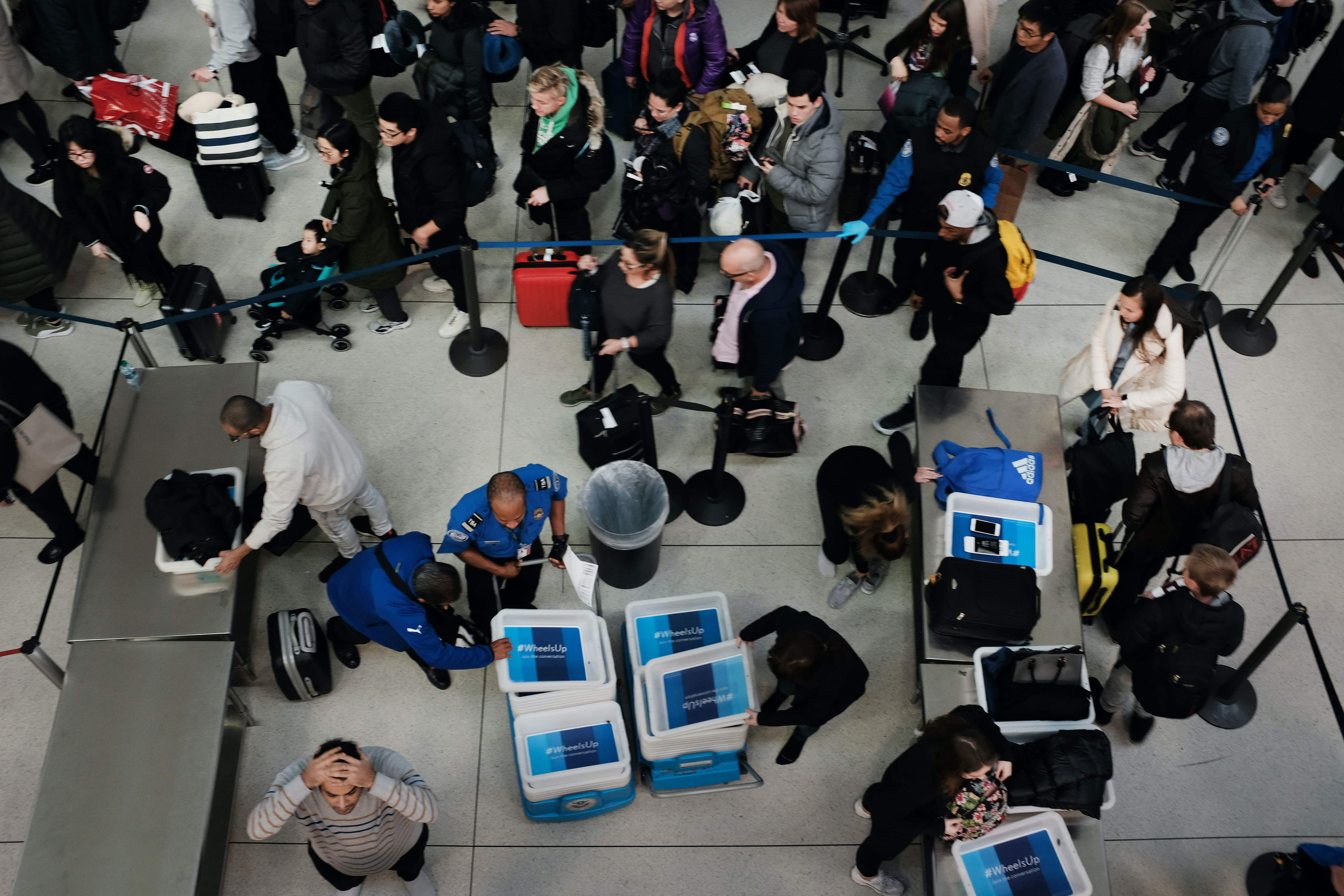 A new data-mining platform provides real-time updates at security checkpoints around the world. Image: Spencer Platt/Getty Images