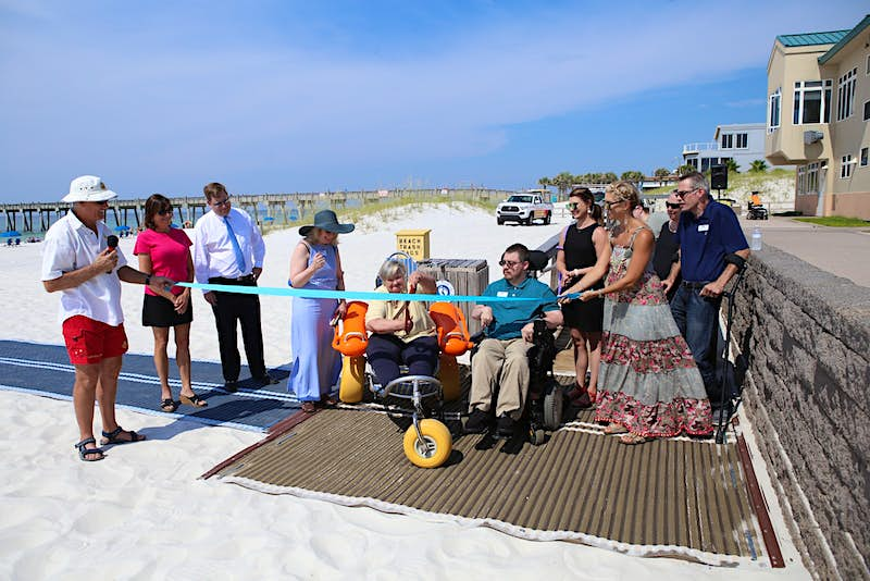 The unveiling of a Mobi-Mat on Pensacola Beach