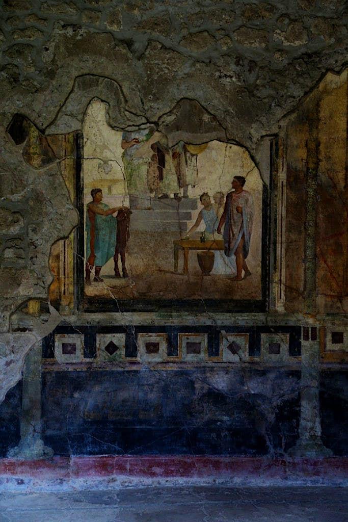Fresco en Casa de los Cupidos Dorados, Pompeya