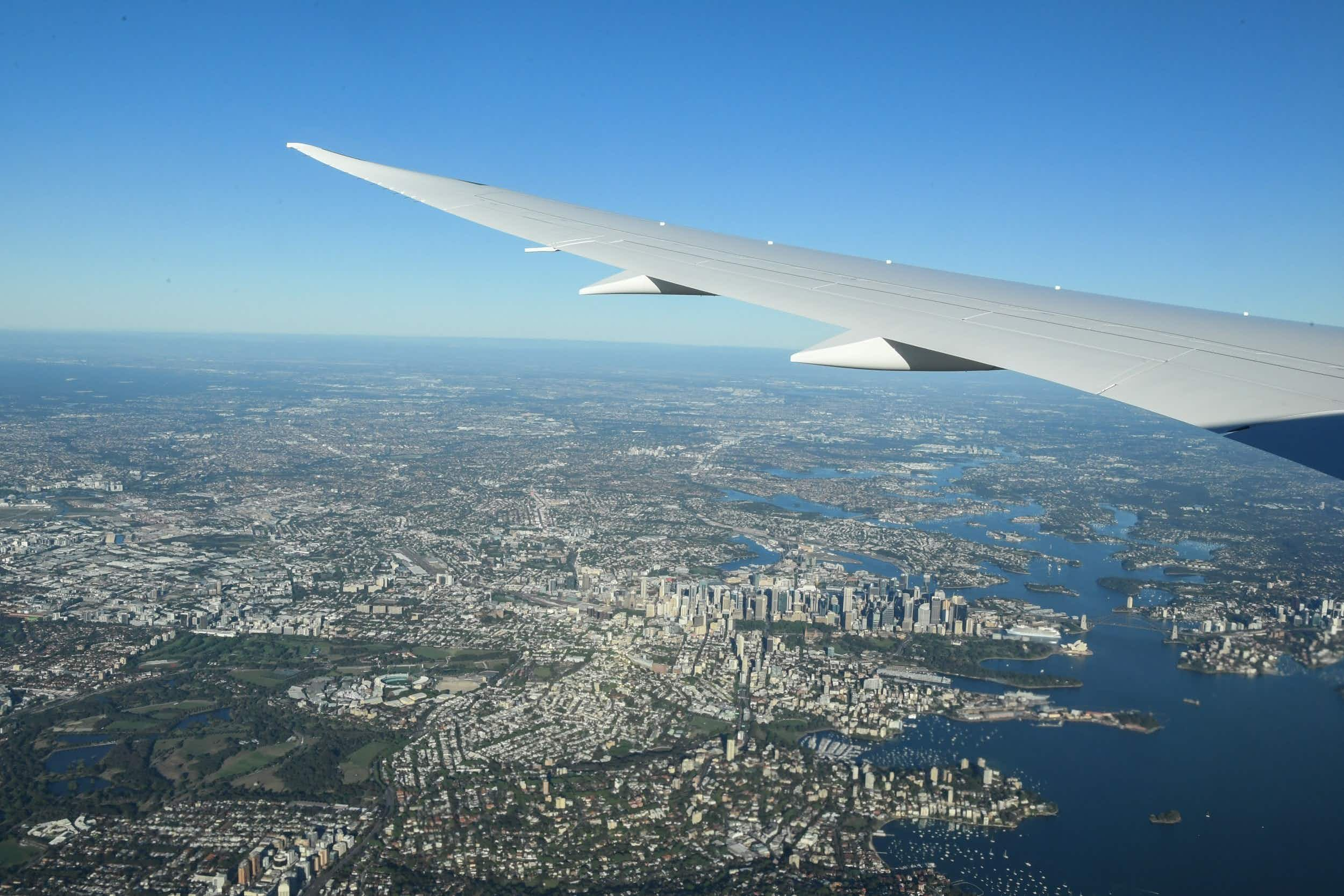 A view from the flight as it travelled from New York to Sydney © James D Morgan/Qantas