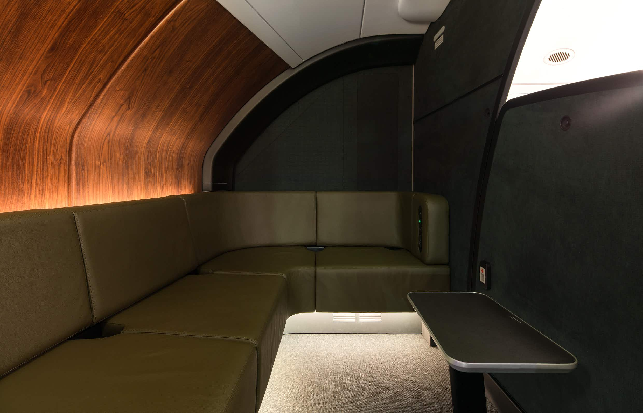 There is a special onboard lounge area for premium passengers on Qantas © Qantas