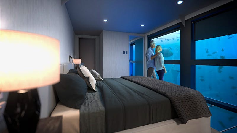 Get ready to stay in the first underwater rooms on the Great Barrier Reef