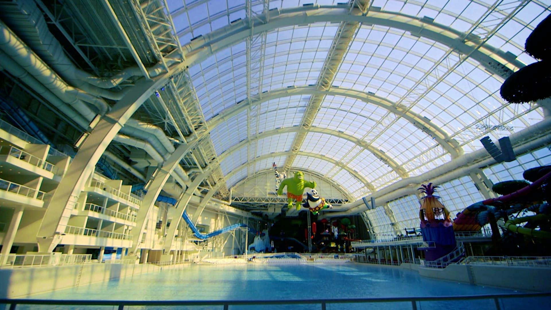 O maior parque aquático da América do Norte será inaugurado este mês