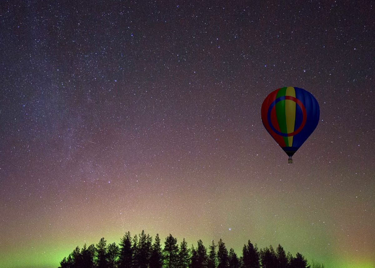 See the northern lights from a hot air balloon in Swedish Lapland - Lonely Planet