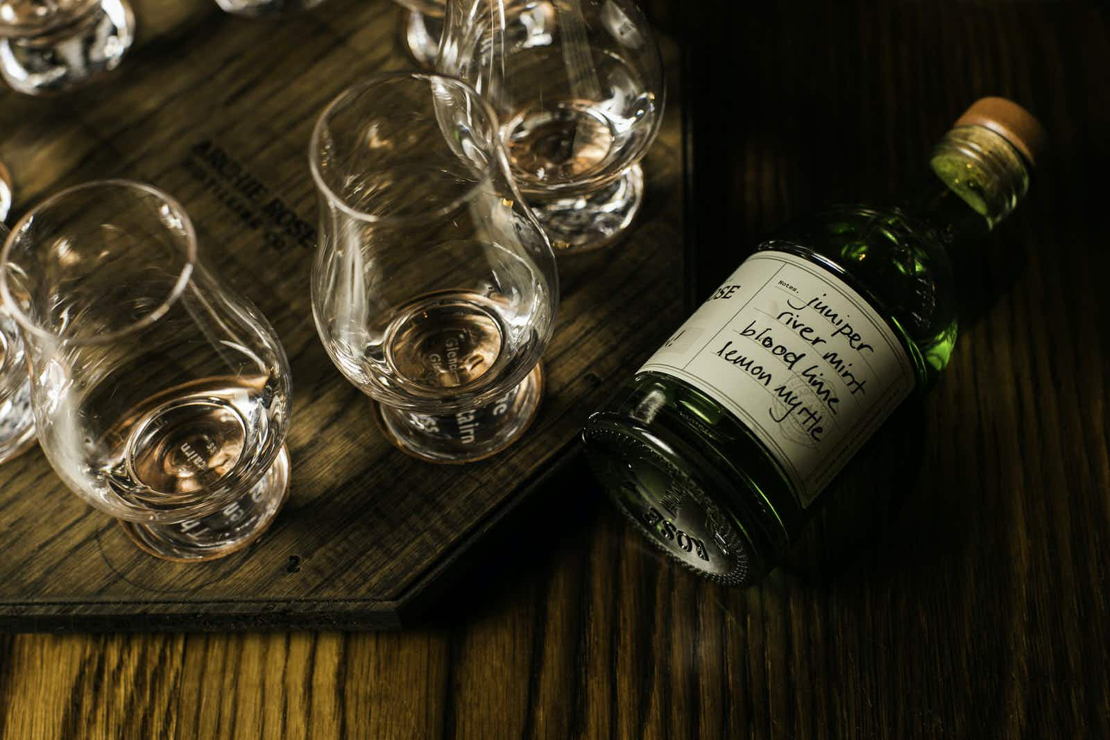 Blend your own bottle of gin at Archie Rose Distillery © Archie Rose