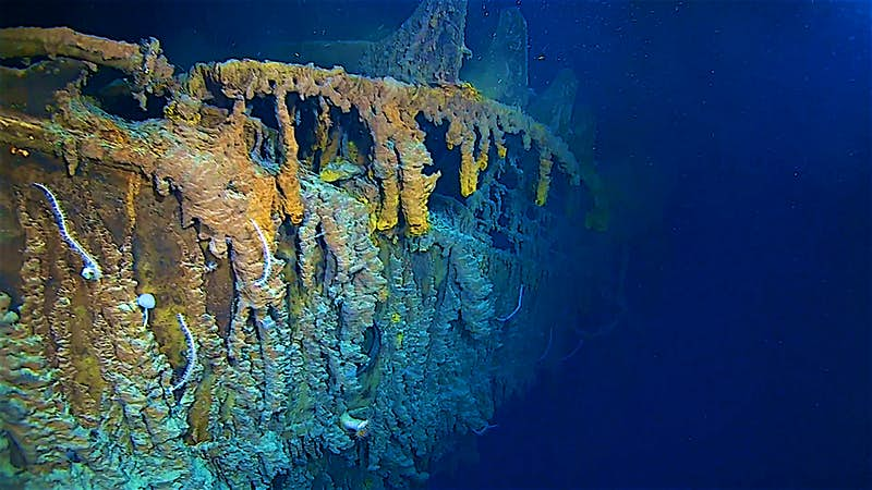 A view of the Titanic wreck taken