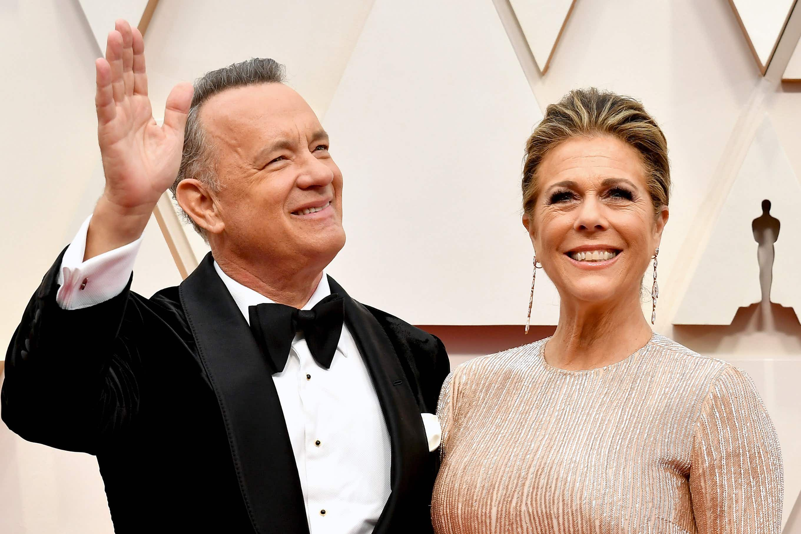Tom Hanks and Rita Wilson at the 92nd Annual Academy Awards in February 2020 © Amy Sussman/Getty Images