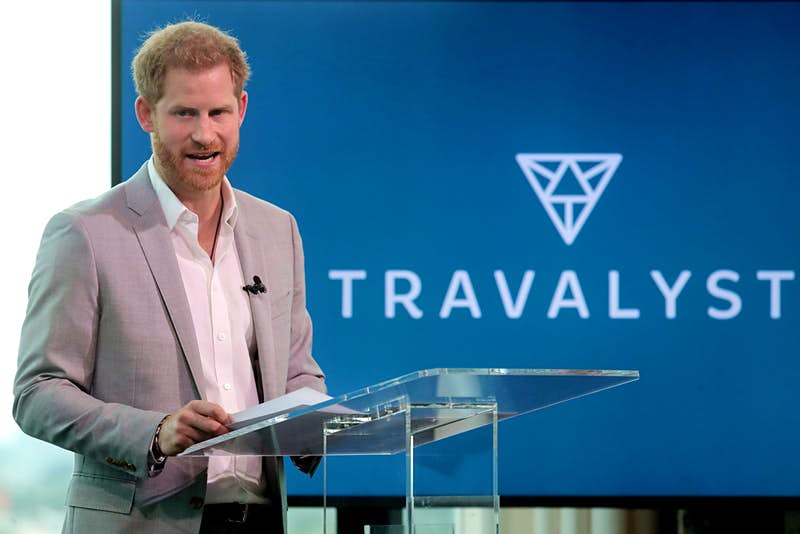 Prince Harry at the launch of Travalyst