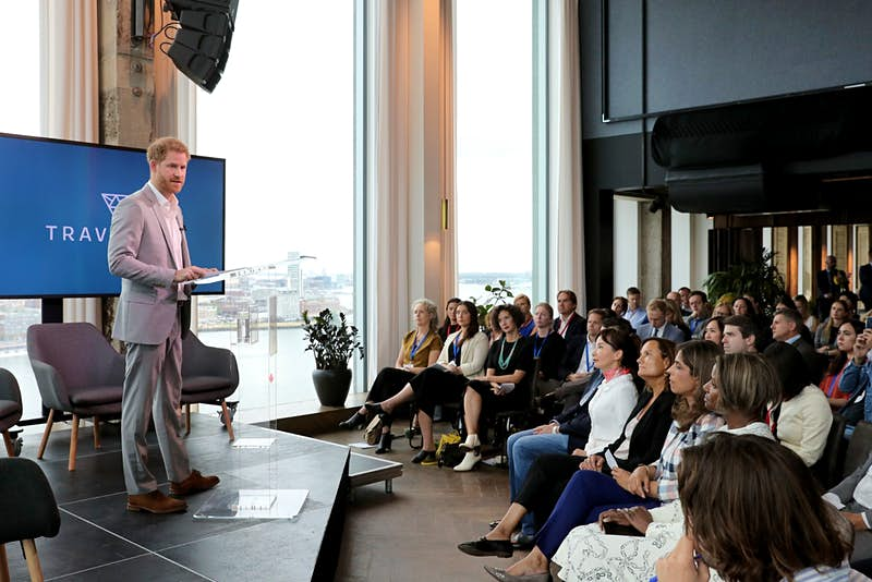 Prince Harry at the launch of Travalyst in Amsterdam