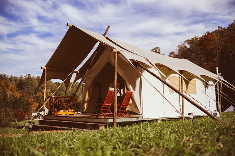 Go glamping just outside America's most popular national park