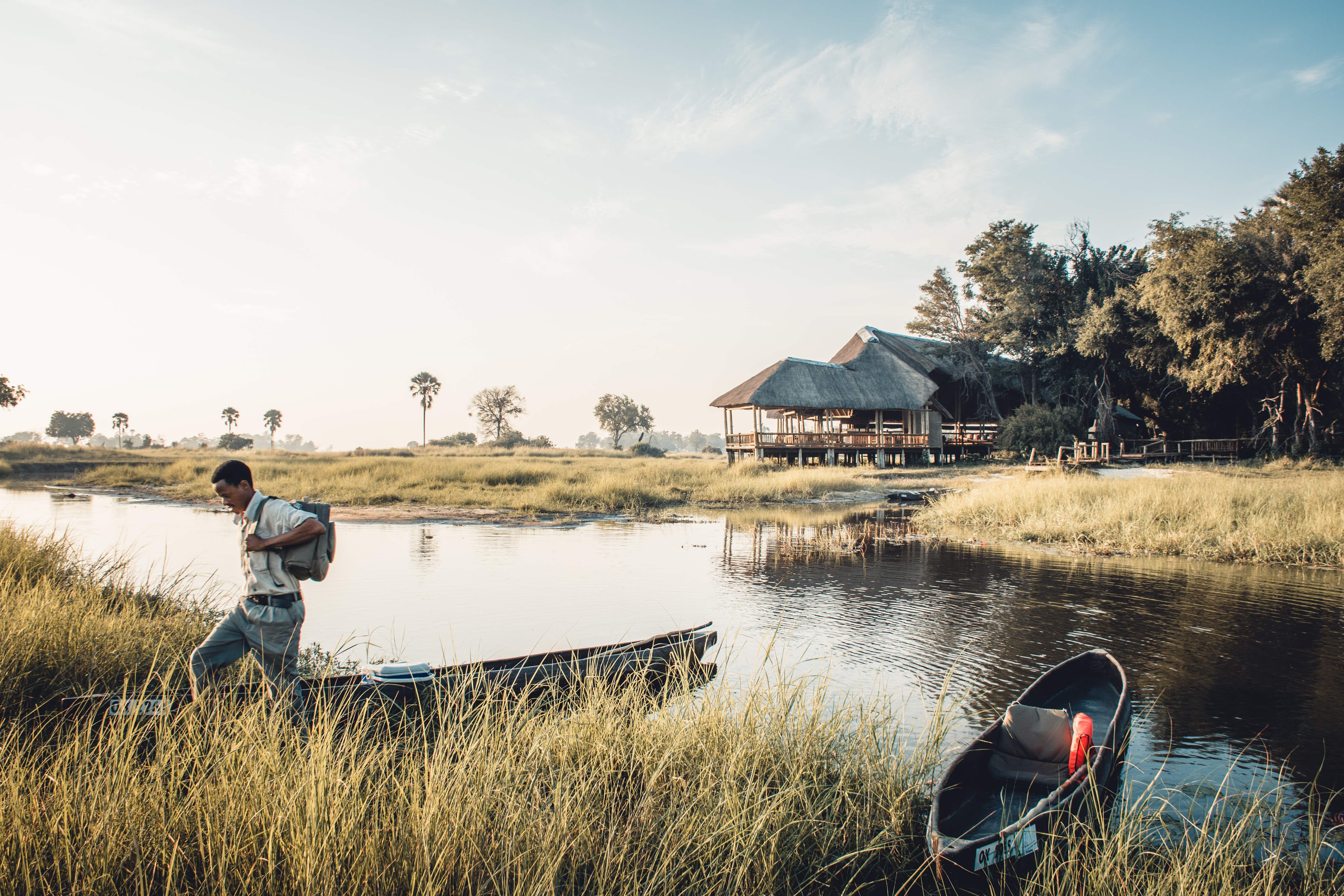 Botswana walking safaris let you slow down and savor the Kalahari