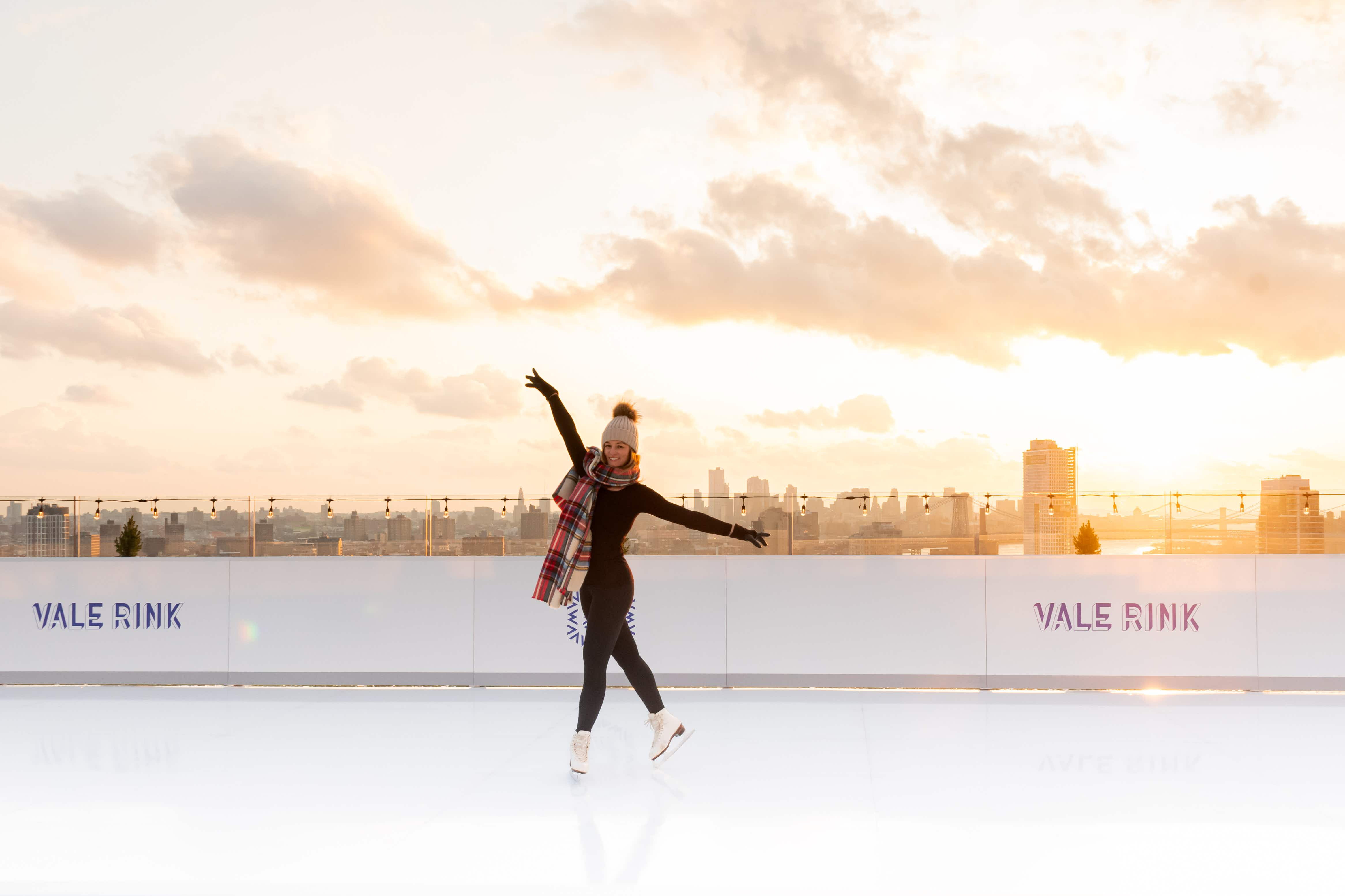 Skate your way across the New York skyline on the roof of this hotel