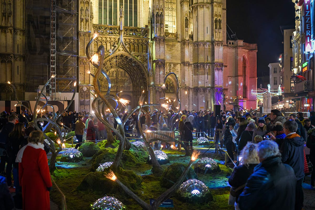 Antwerp's winter festival features a new fairytale forest