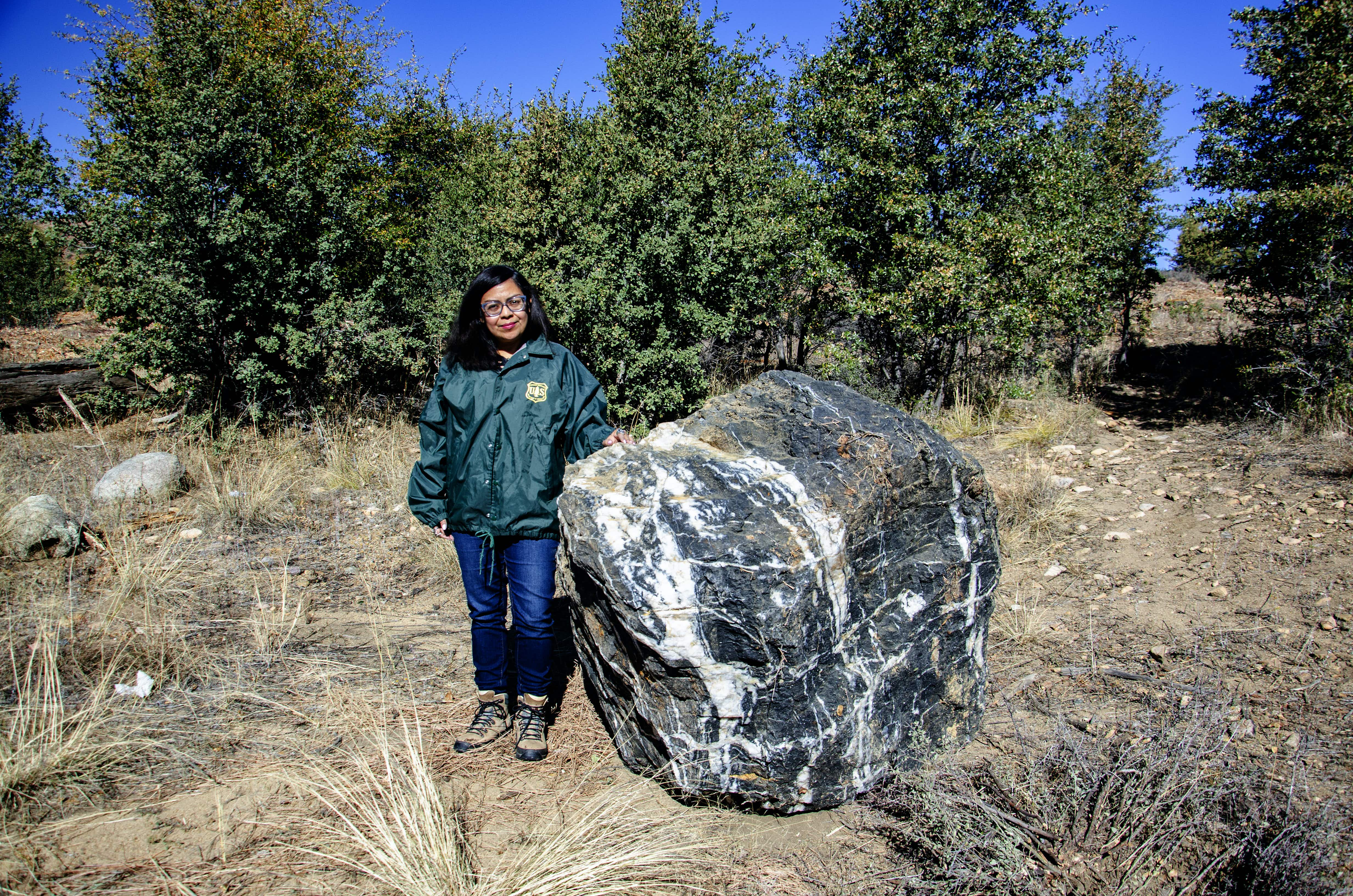 """Missing one-ton boulder known as """"Wizard Rock"""" magically reappears in National Forest"""