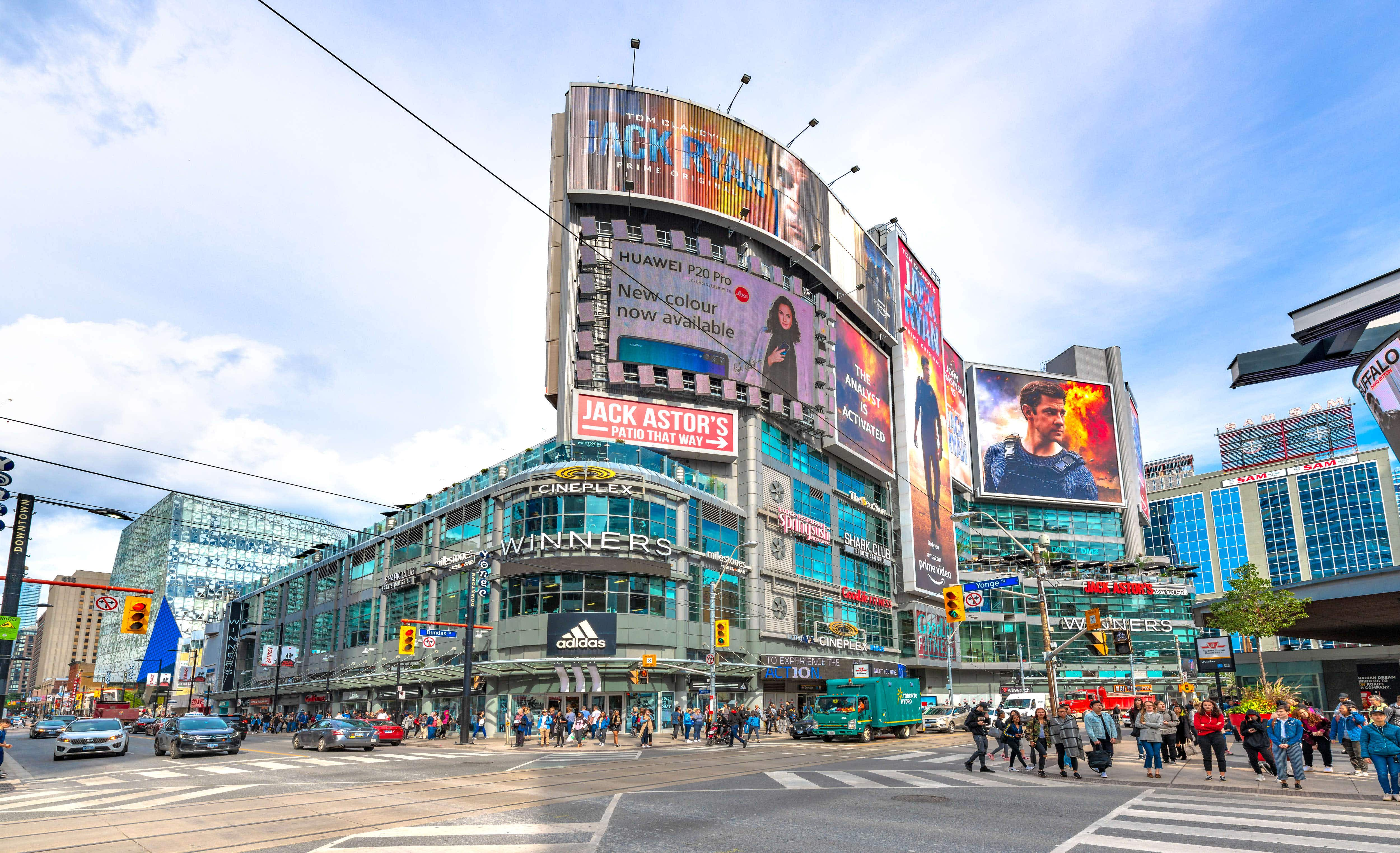 Yonge Dundas Square in the downtown district is basically Toronto's Times Square © Robert Machado Noa / LightRocket via Getty Images