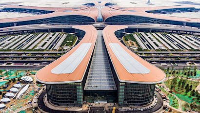 China's sprawling, futuristic mega-airport has opened