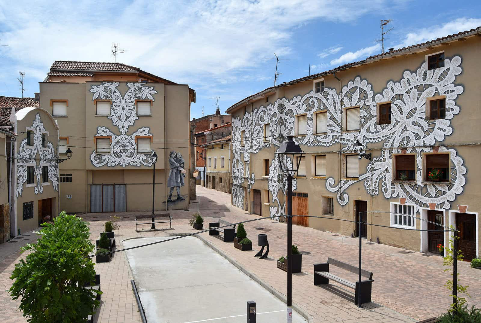 Street artists cover Spanish village in murals celebrating local women