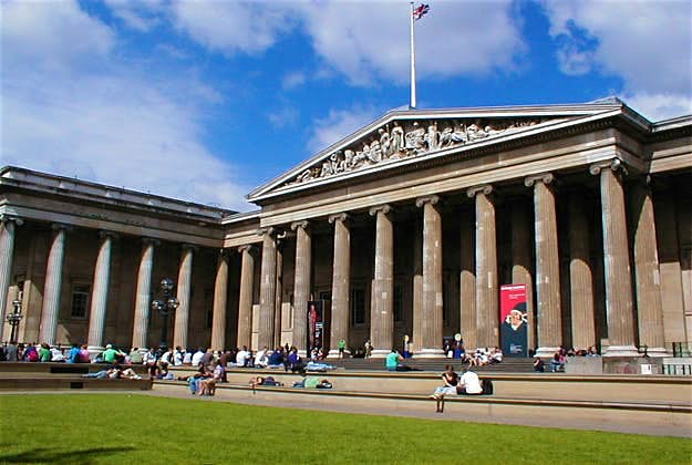 The exterior of the British Museum in London
