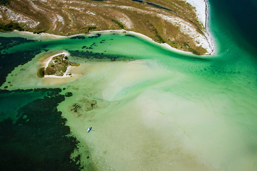 Aerial view of Caladesi Island, Florida