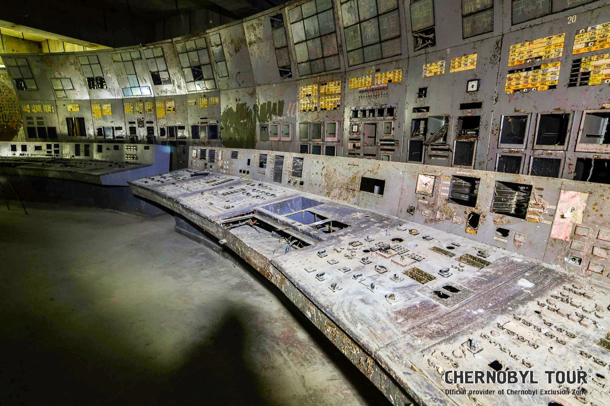 The control room of Chernobyl's highly radioactive Reactor No. 4 is now open to the public ©Chernobyl Tour