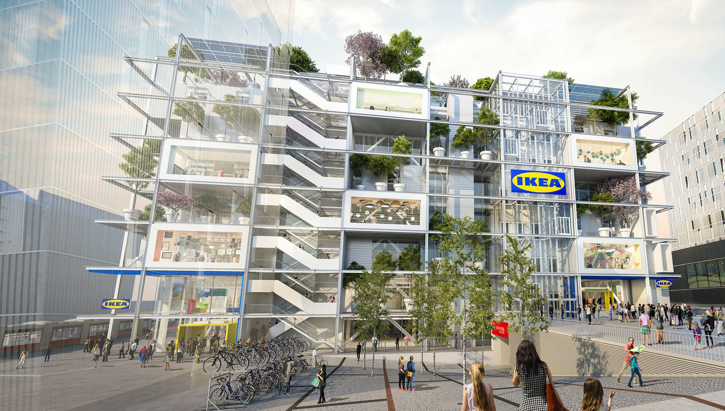 IKEA is building its greenest store to date in the centre of