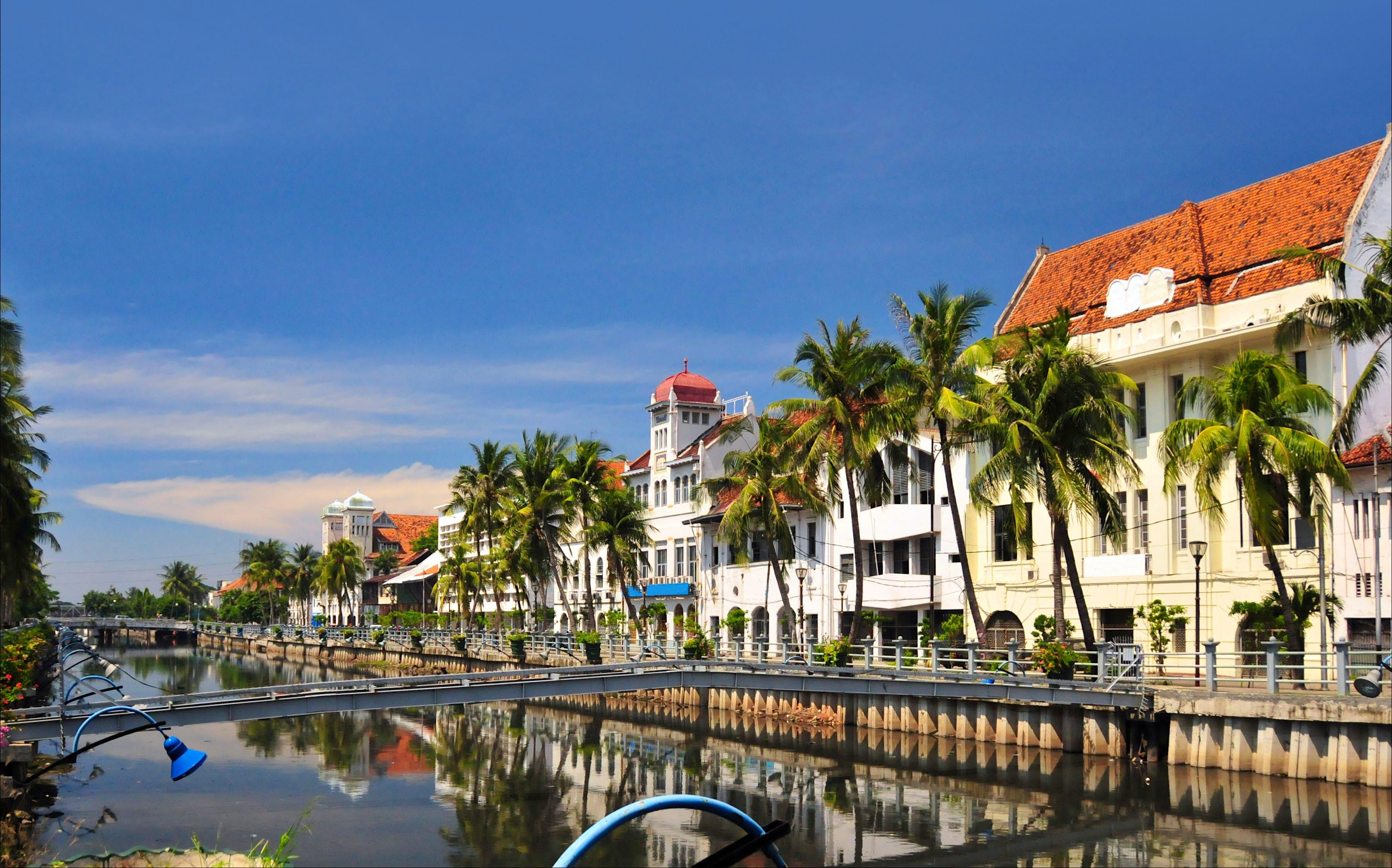 Una foto del barrio holandés de Yakarta