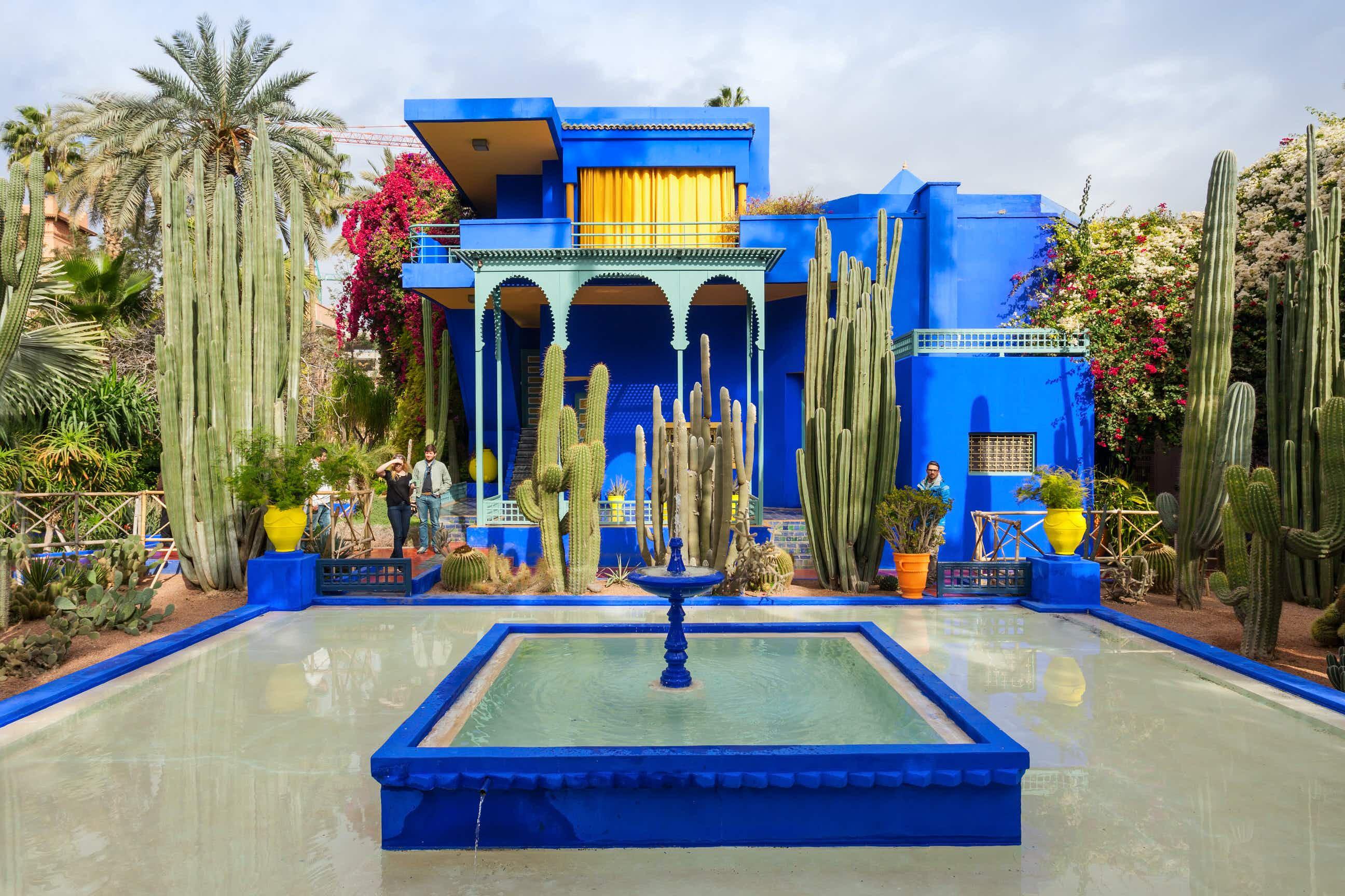The vibrant world inside YSL's Jardin Majorelle in Marrakesh © saiko3p / Shutterstock