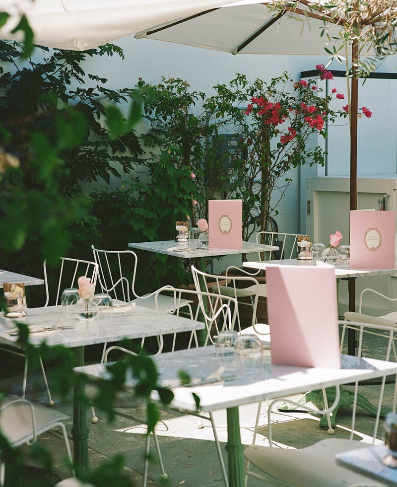 Ladurée partners with Mansur Gavriel on a very pink LA café