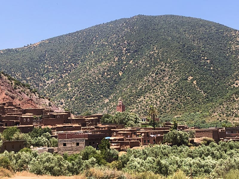Solo parenting in the foothills of Morocco's Atlas Mountains