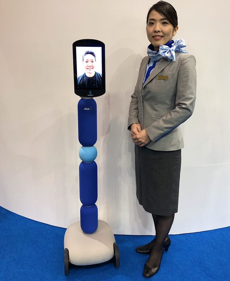 Newme, a telepresence robot that looks like a screen on wheels