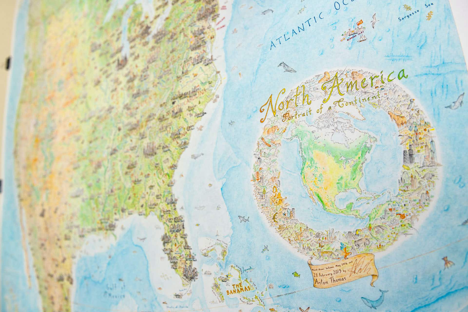 Check Out This Incredible Hand Drawn Map Of North America Lonely Planet