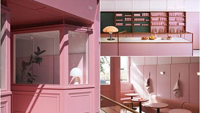 From a cardboard cafe to a pink pizzeria - five of the world's most stylish restaurants