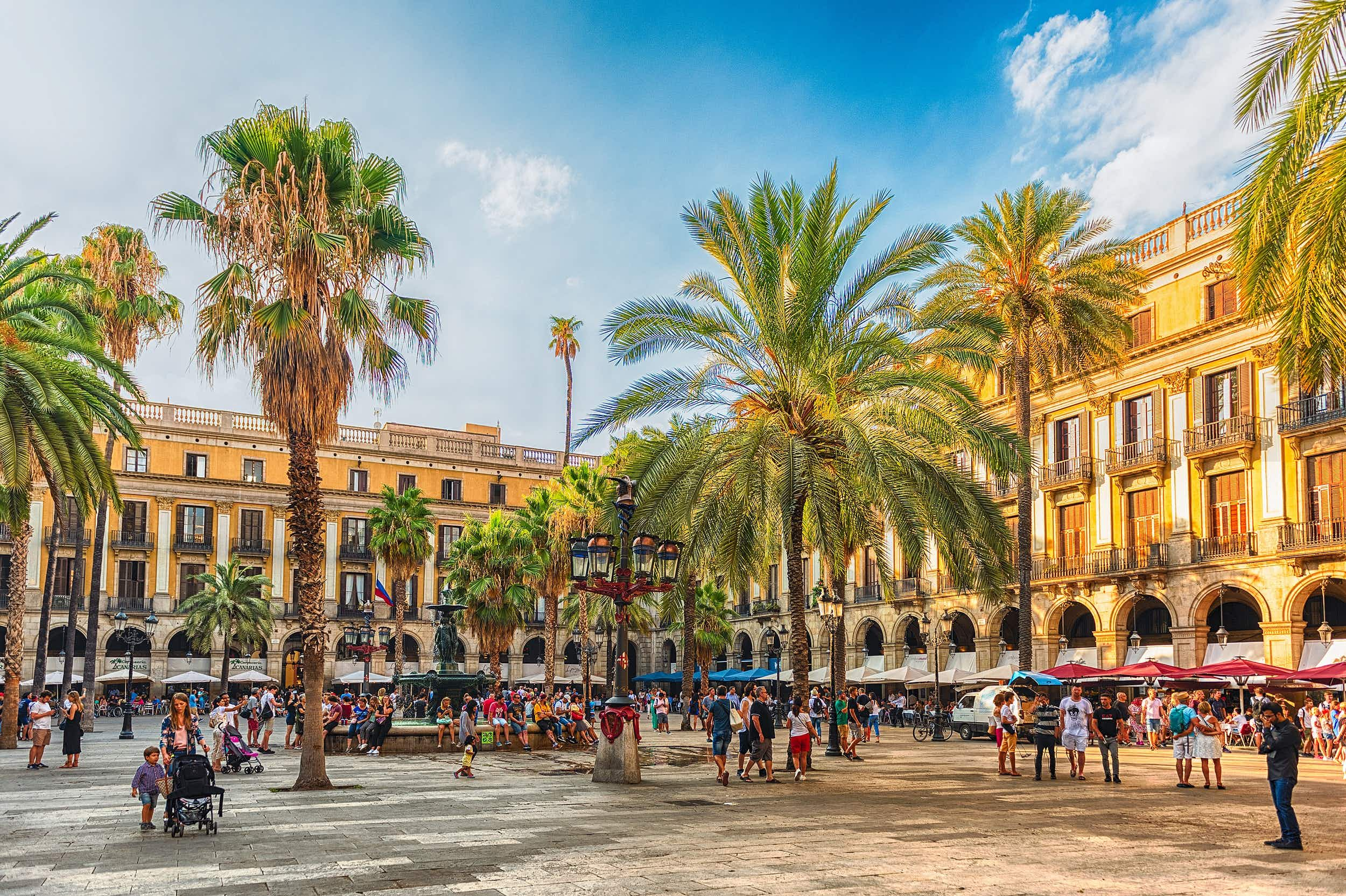 Look out for the lamp-posts in Plaça Reial, the first artworks the city commissioned Gaudí to do © Marco Rubino / Shutterstock