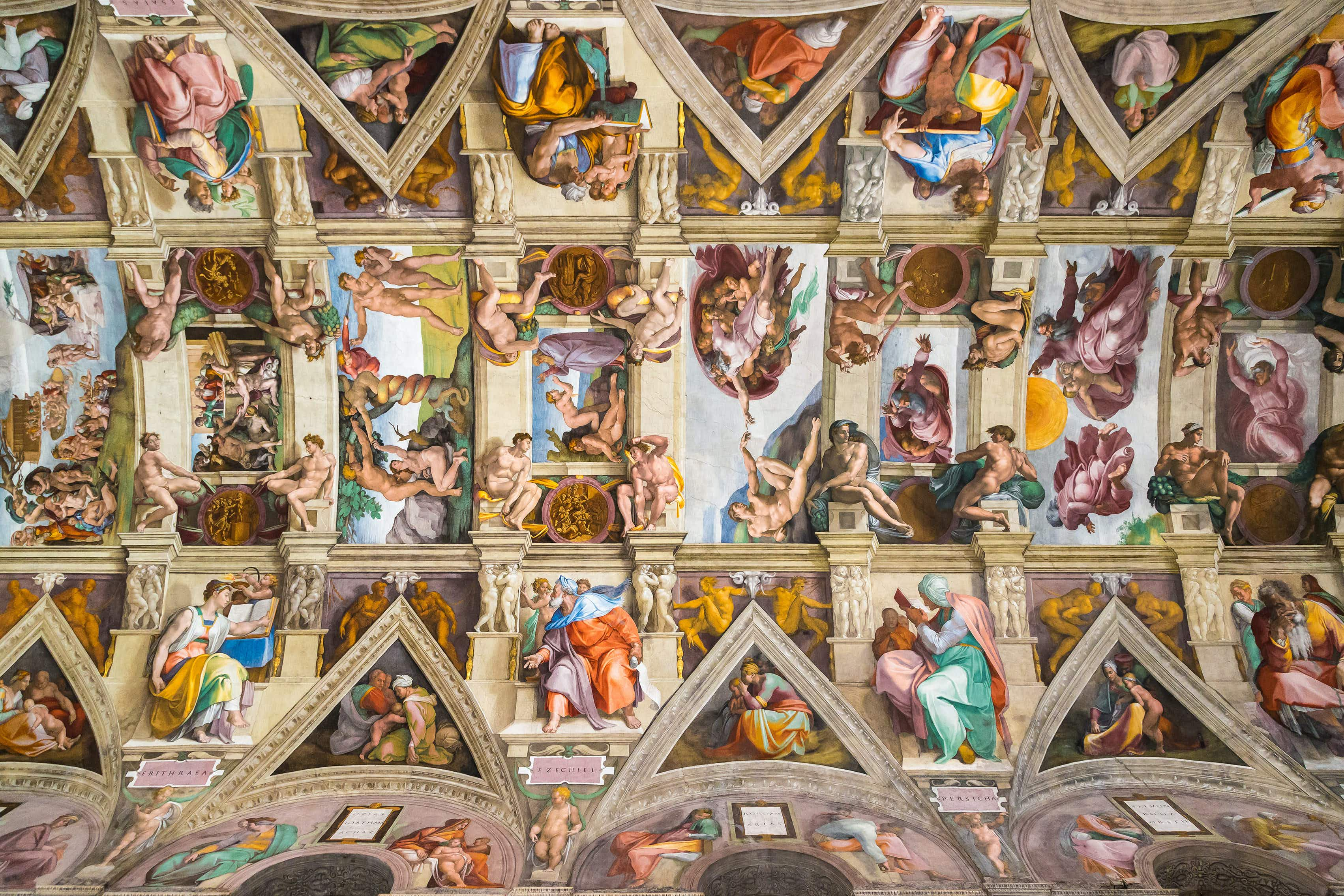 Ceiling of the Sistine chapel in the Vatican museum ©S-F/Shutterstock