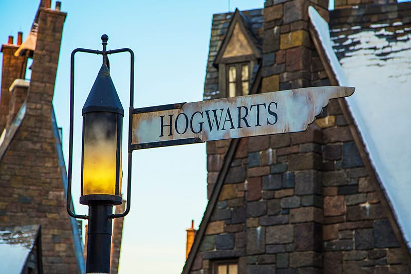 A signpost to Hogwarts