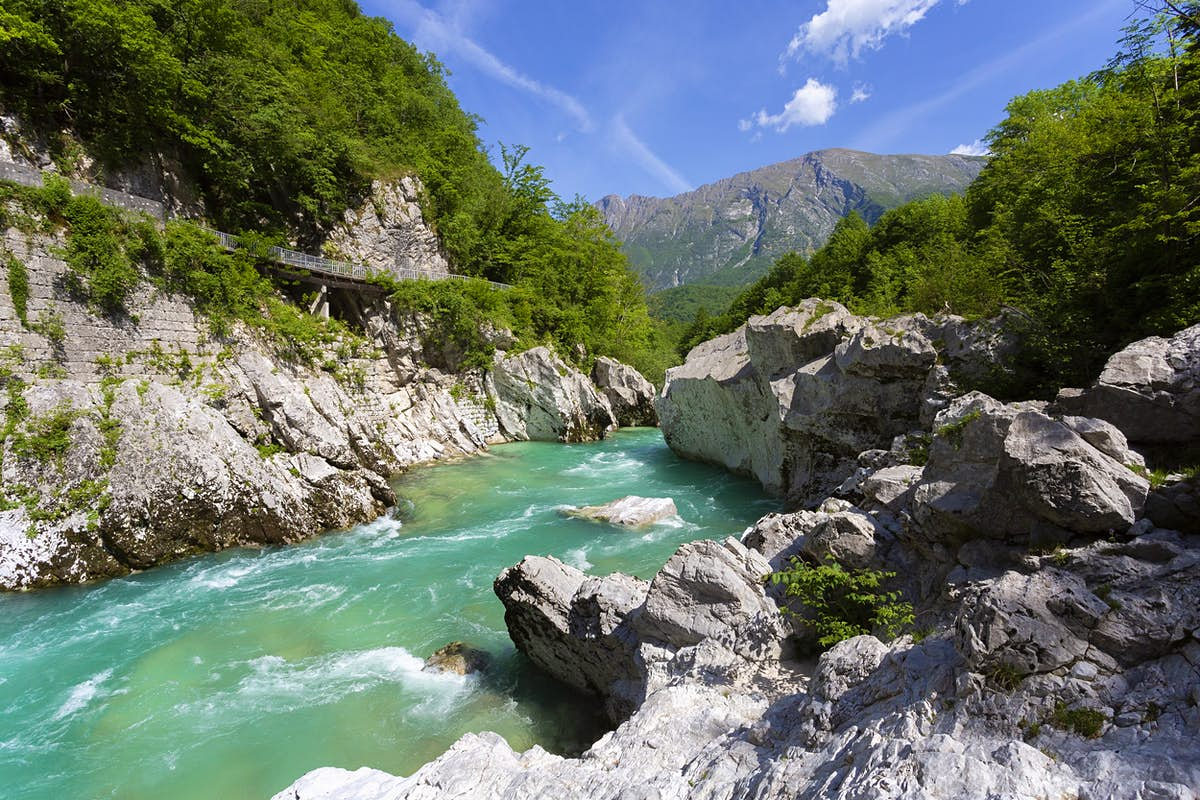 A new hiking trail follows a WWI front line between Slovenia and Italy