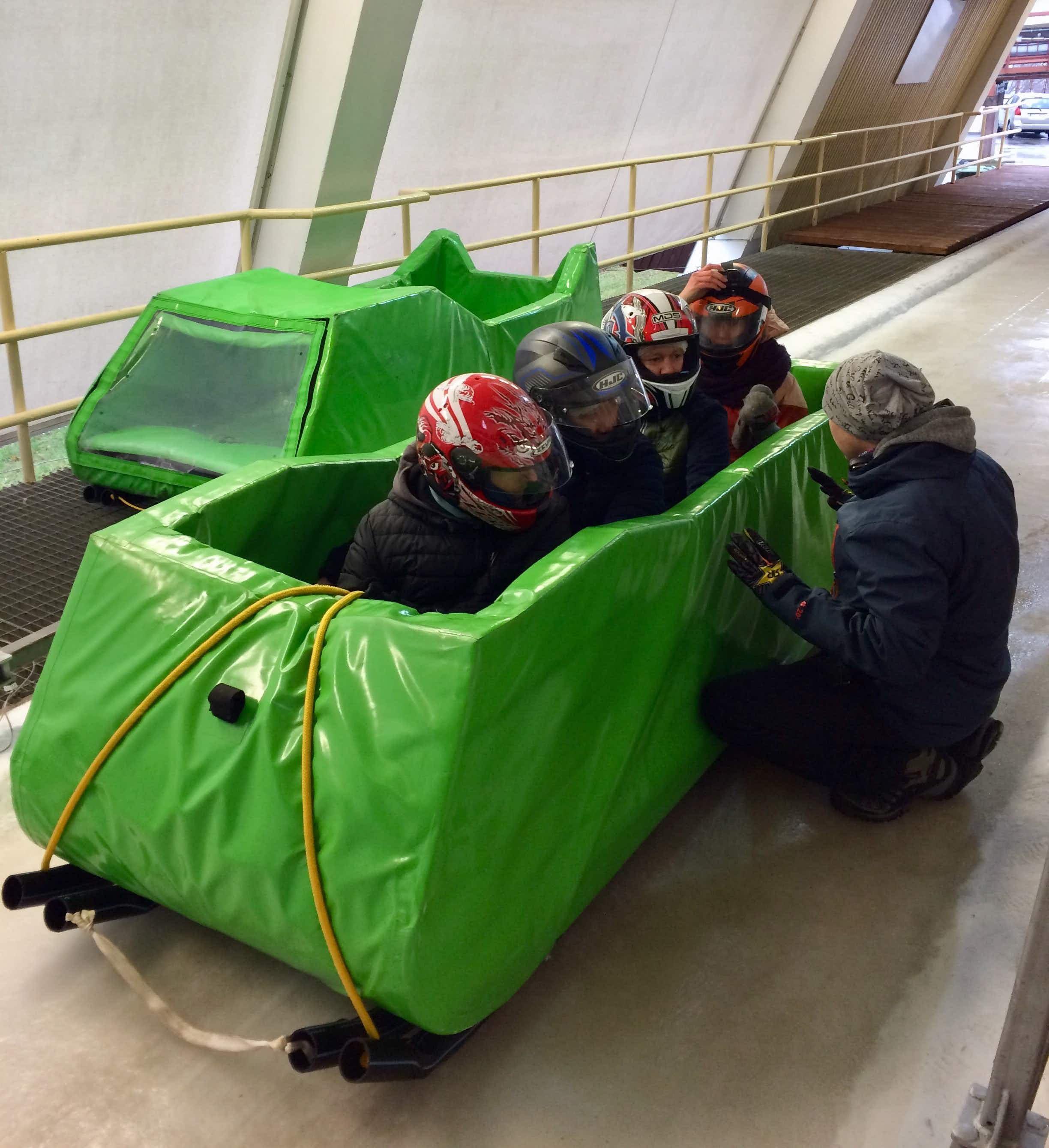 The 'soft bob' at Sigulda is the alternative for those not wanting the full 4G bobsleigh experience © Clifton Wilkinson / Lonely Planet