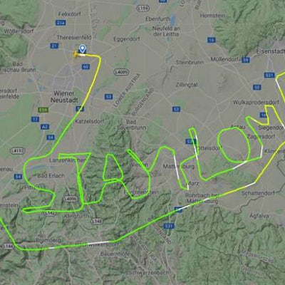 Pilots have been using their aircraft to spell out messages during the COVID-19 outbreak