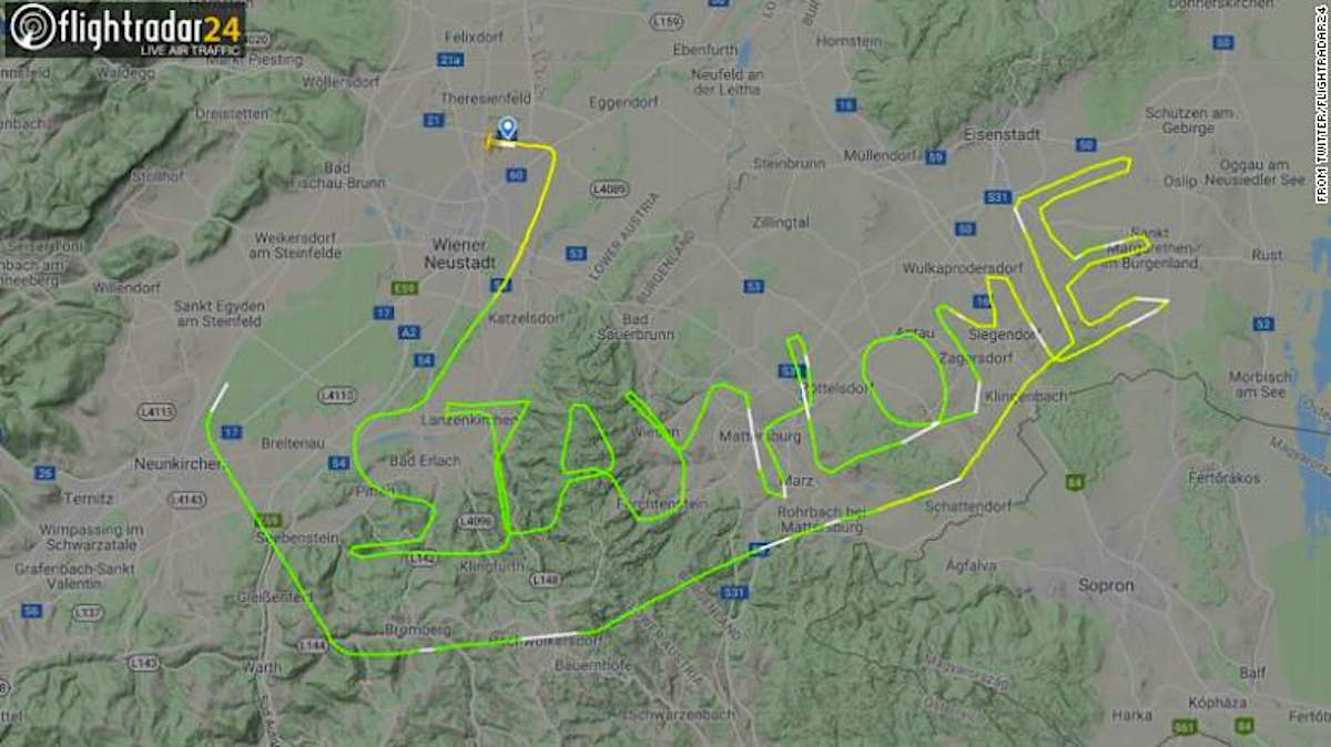 Pilots use their aircraft to spell out messages during the COVID-19 outbreak