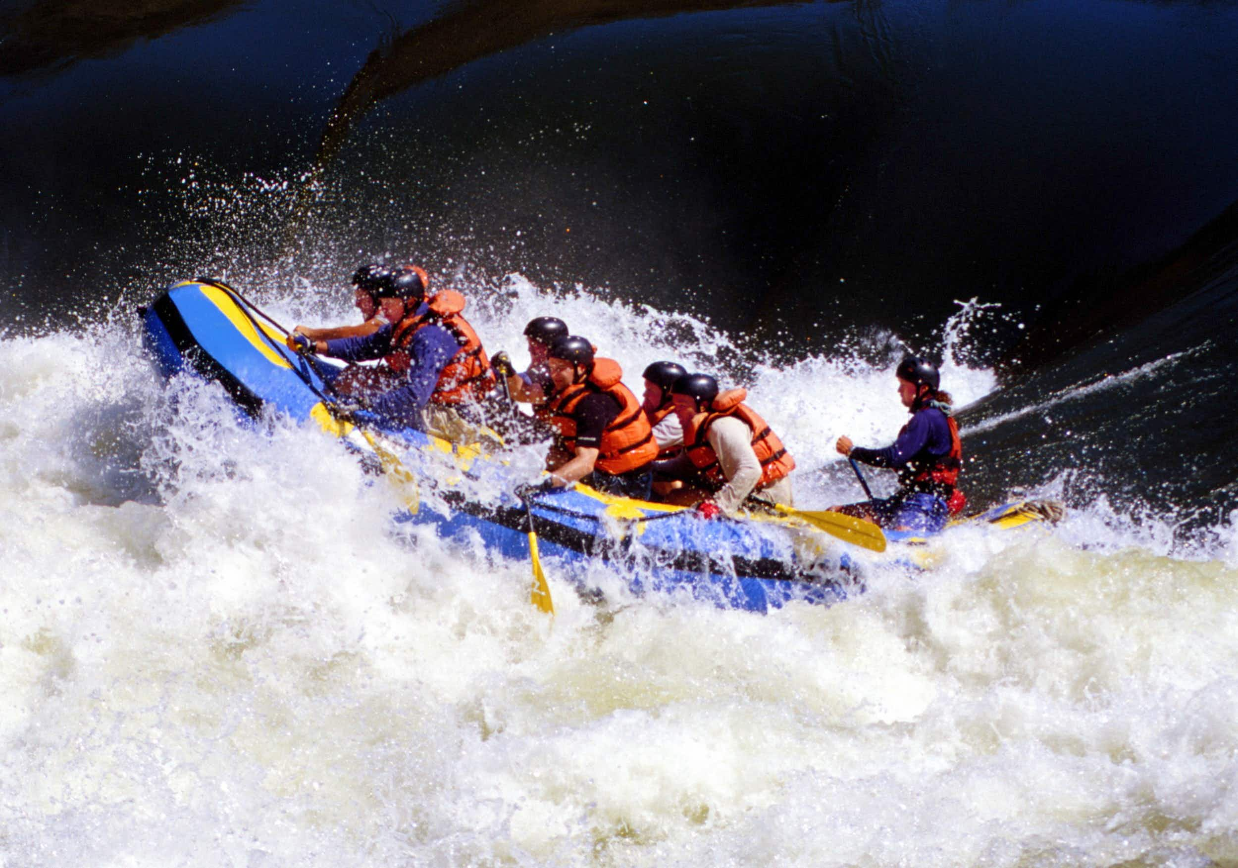 The whitewater running below Victoria Falls provides plenty of Grade V action © Steve Bly / Getty Images