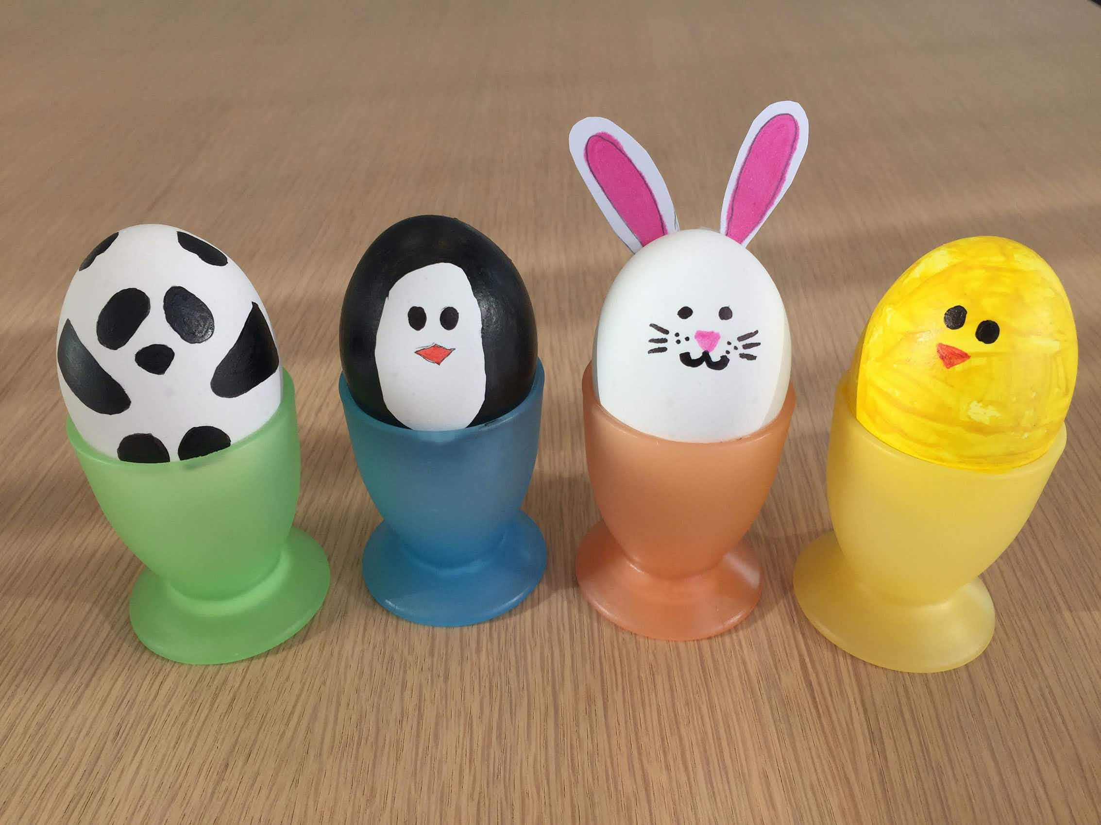 Rainy day activity: paint your own Easter egg