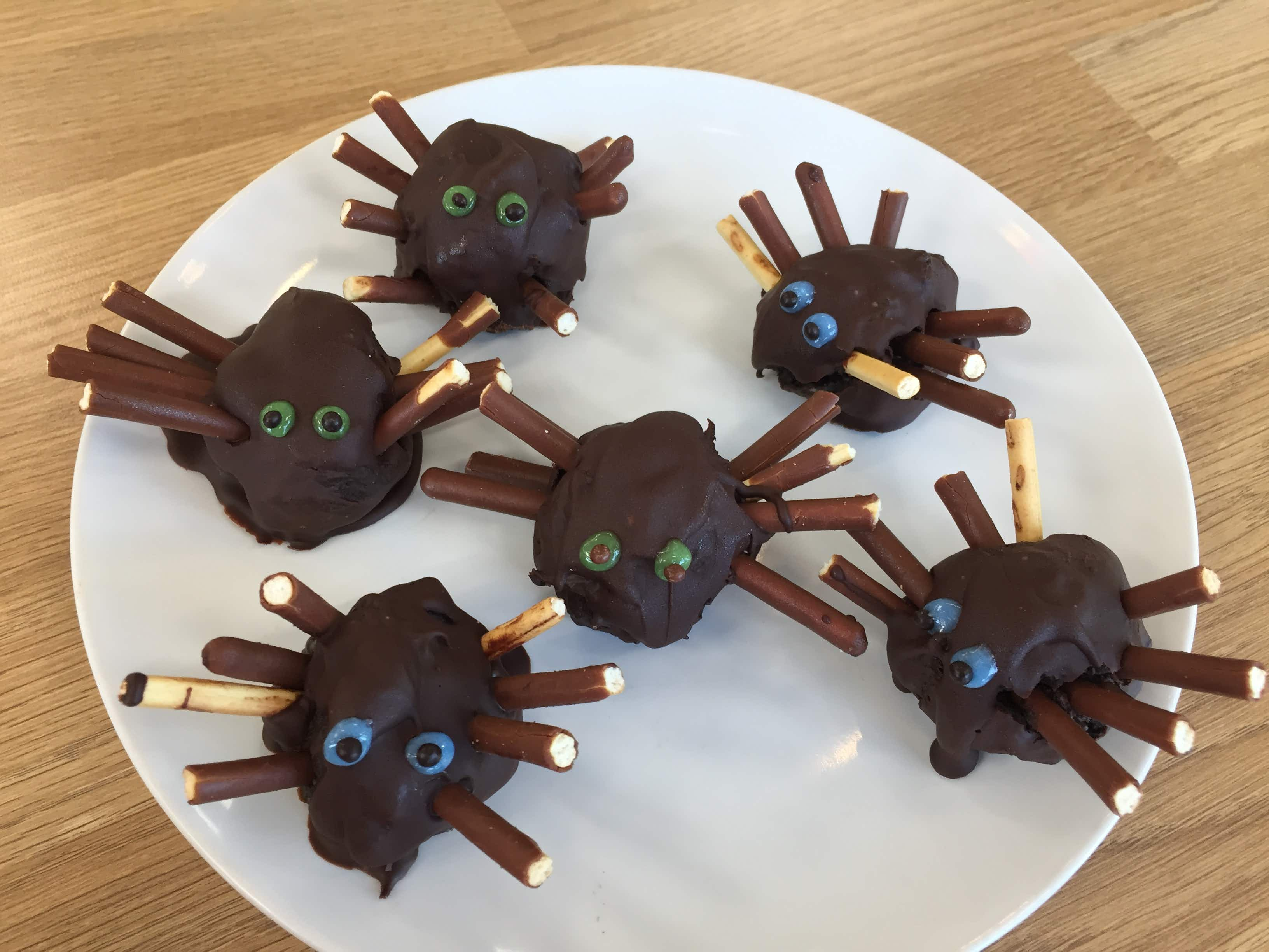 Rainy day activity: make your own chocolate spiders