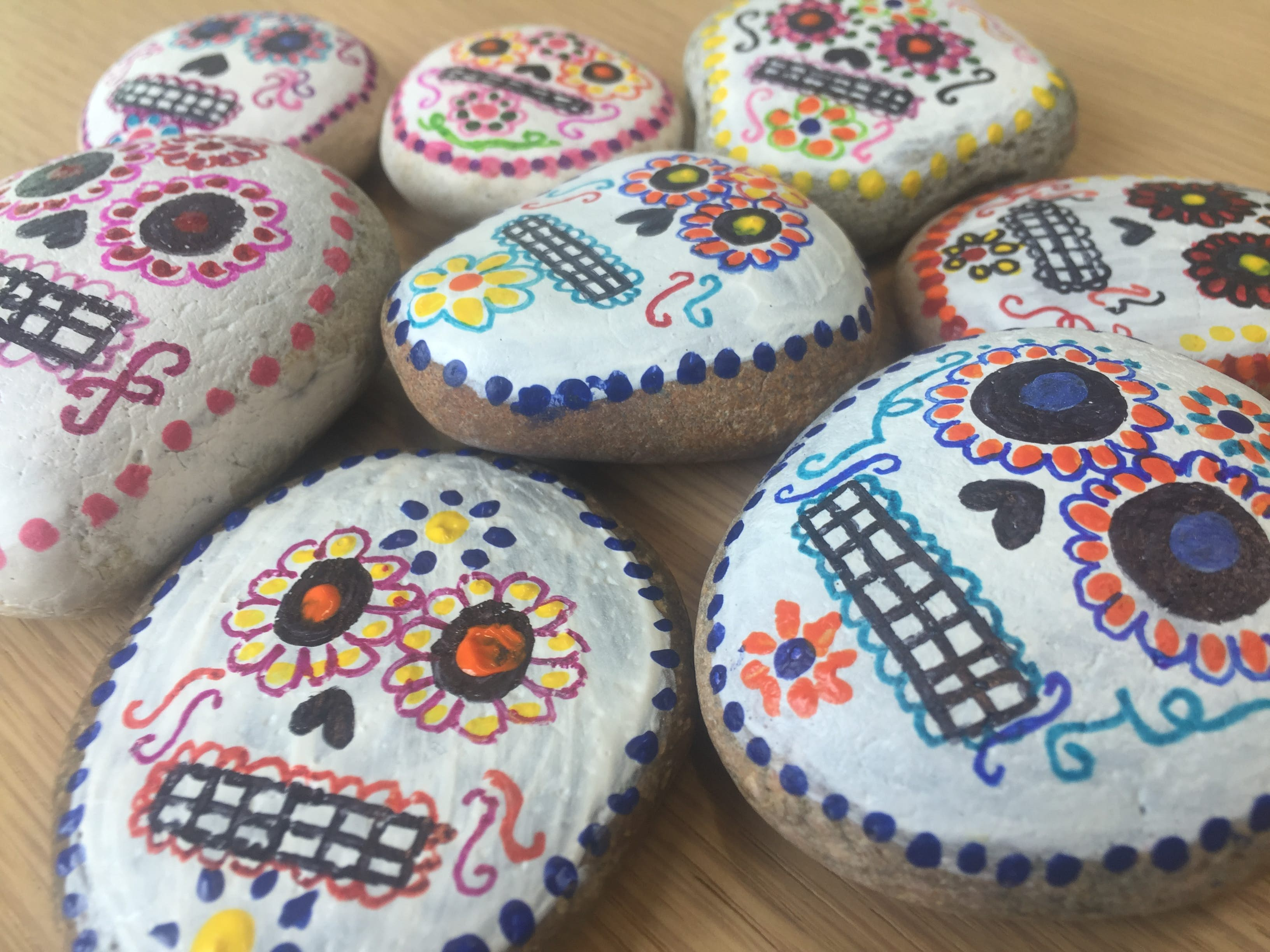 Rainy Day Activity Painting Pebbles For Mexico S Day Of The Dead Lonely Planet