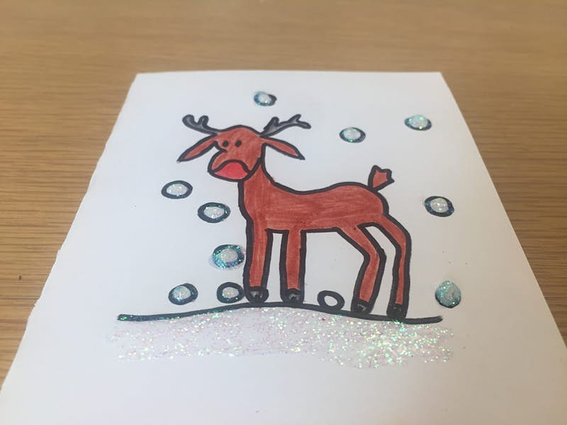 Reindeer Christmas Cards Drawings.Rainy Day Activity How To Make A Reindeer Christmas Card