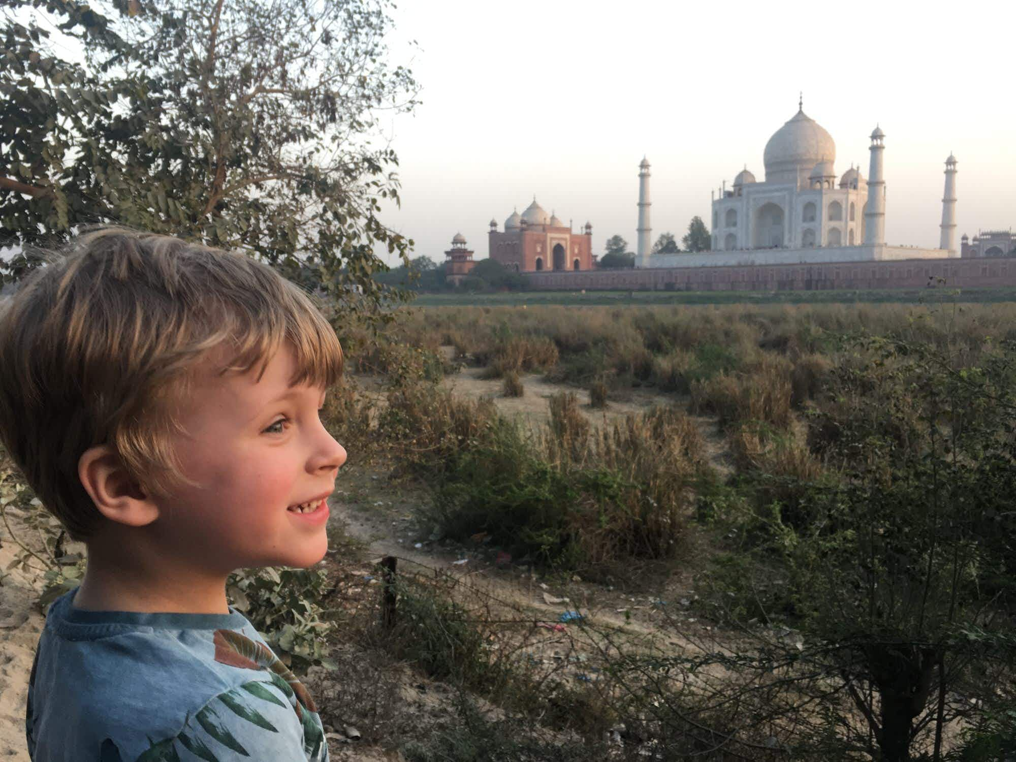 Family travel snap: visiting the Taj Mahal