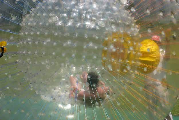 Man in bubble rescued en route to Bermuda