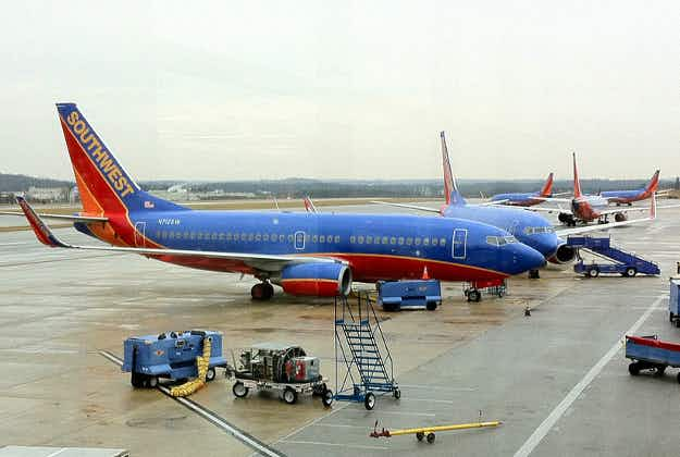 Southwest flight skids off runway in Nashville