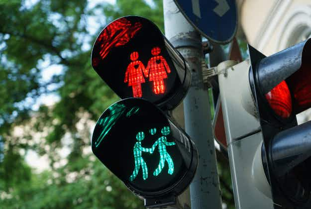 This Spanish city has become the latest to install same-sex pedestrian crossing signals