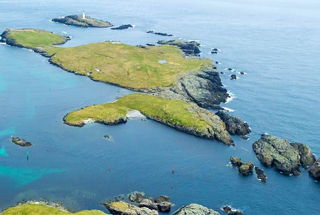 Isle of Grunay in the Out Skerries, Shetland, which has been put on the market for just £85,000 GBP.
